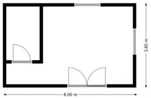 výkres mobilný dom ALFA