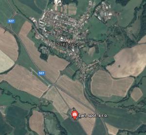 mapa sídlo spolocnosti LARI