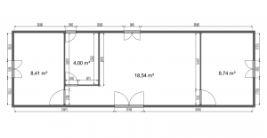 velkosť izieb mobilny dom LARI